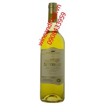 Rượu vang trắng Sauternes 2011