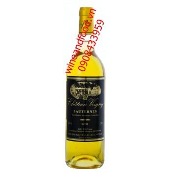 Rượu vang trắng Sauternes Chateau Voigny 2009