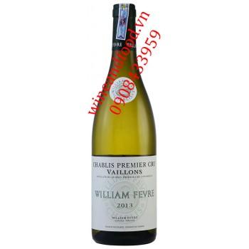 Rượu vang trắng William Fevre Chablis Cru Vaillons 2013