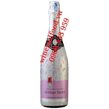 Rượu vang nổ Arthur Metz Crémant D'alsace Brut Rosé 750ml