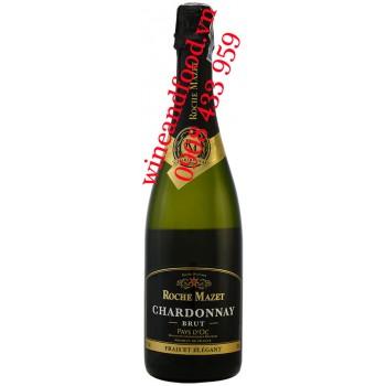 Rượu vang nổ Roche Mazet Pays D'oc Chardonnay Brut 750ml