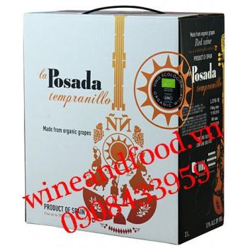 Rượu vang La Posada Tempranillo Organic bịch 3l