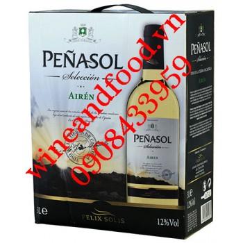 Rượu vang Penasol Seleccion Airen trắng bịch 3l