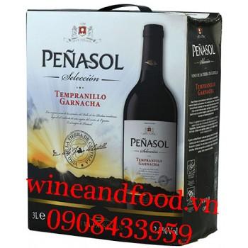 Rượu vang Penasol Seleccion Tempranillo Garnacha bịch 3l