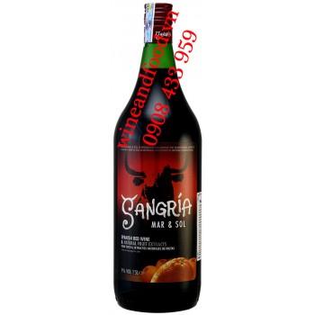 Rượu vang Sangria đỏ Mar & Sol Tây Ban Nha 1L5