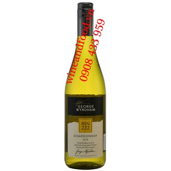 Rượu vang Bin 222 Chardonnay George Wyndham trắng 750ml