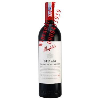Rượu vang Bin 407 Penfolds Cabernet Sauvignon 750ml