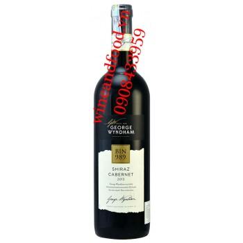 Rượu vang Bin 989 Shiraz Cabernet George Wyndham
