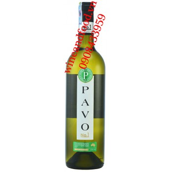 Rượu vang Pavo Chardonnay trắng No.1 750ml