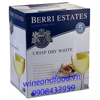 Rượu vang trắng Berri Estates bình 5l