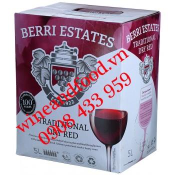 Rượu vang Berri Estates bịch 5 Lít