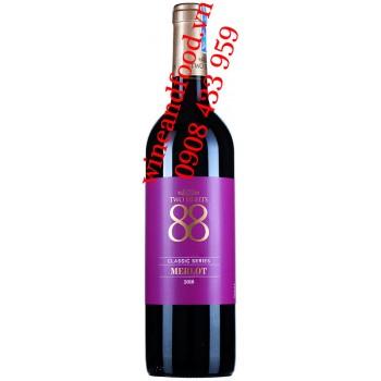 Rượu vang Two Eights 88 Merlot Classic Series 750ml