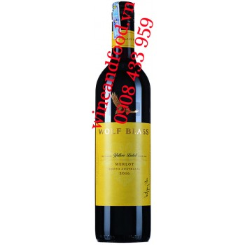 Rượu vang Wolf Blass Merlot Red Label 750ml