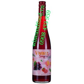 Nước trái cây lên men Sangia Light đỏ Vivazz 750ml