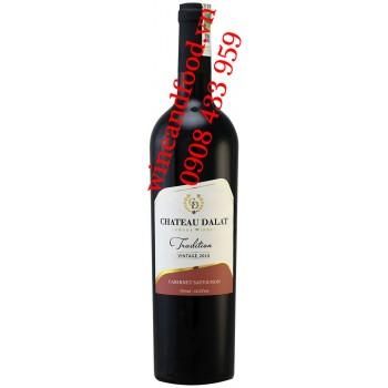 Rượu vang Đà Lạt chateau Dalat Tradition Cabernet Sauvignon 750ml