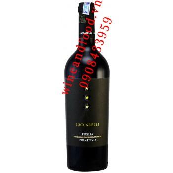 Rượu vang 3 sao Luccarelli Puglia Primitivo