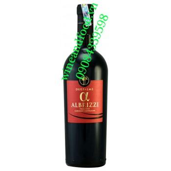 Rượu vang Albrizzi Alpha Salento Due Palm