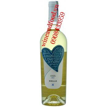 Rượu vang Amami Grillo trắng 750ml