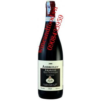 Rượu vang Ambrosan Amarone Della Valpolicella Nicolis