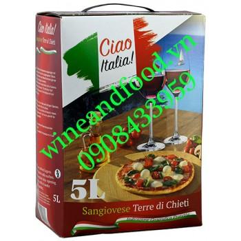Rượu vang Ciao Italia Sangoovese 5L