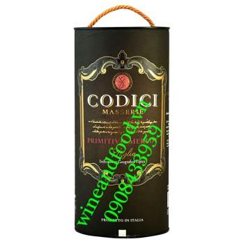 Rượu vang Codici Puglia Primitivo Merlot 3l