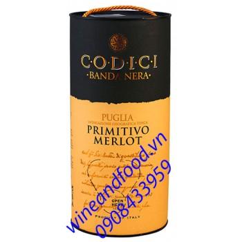 Rượu vang Codici Puglia Primitivo Merlot bình 3l