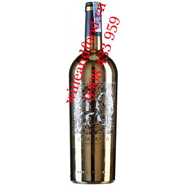 Rượu vang 40 Quaranta Primitivo Puglia IGP