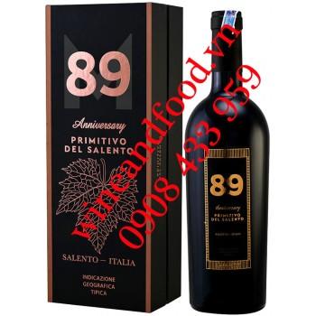 Rượu vang 89 Anniversary Primitivo Del Salento IGT hộp quà