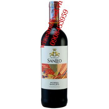 Rượu vang Borgo Sanleo Rosso 750ml