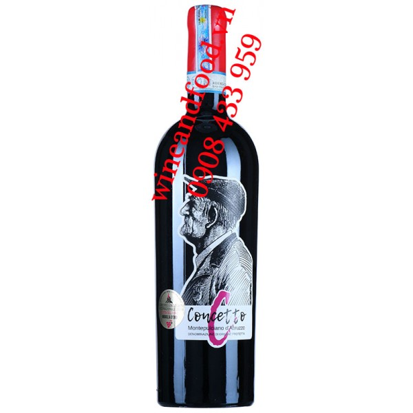 Rượu vang Concetto Montepulciano d'Abruzzo DOC
