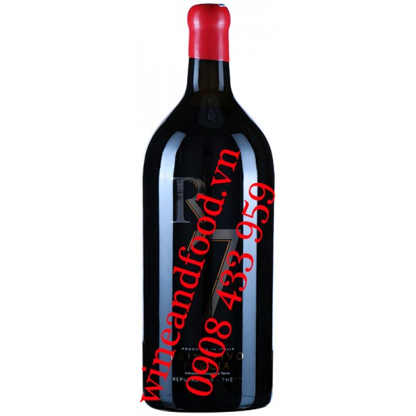 Rượu vang R7 Primitivo Puglia IGT 5 Lít