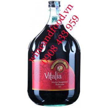 Rượu vang Vitalia Merlot Sangiovese Rubicone IGT 3L