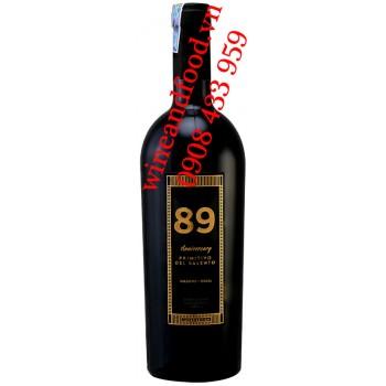 Rượu vang Ý 89 Anniversary Primitivo Del Salento IGT