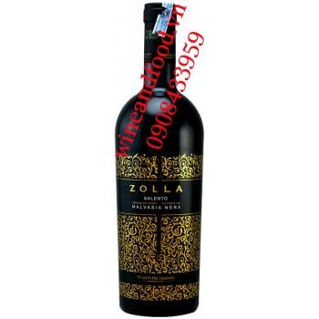 Rượu vang Zolla Salento Malvasia Nera IGP 750ml