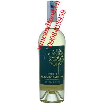 Rượu vang Estella Moscato Salento San Marzano trắng 750ml