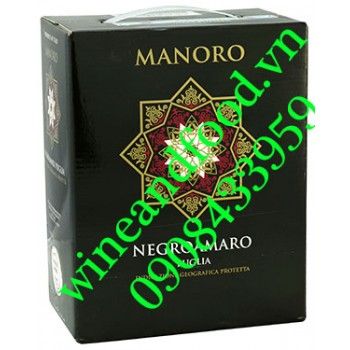 Rượu vang Manoro Negroamaro Puglia 3l