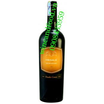 Rượu vang Megale Negroamaro Feudo Croce 750ml