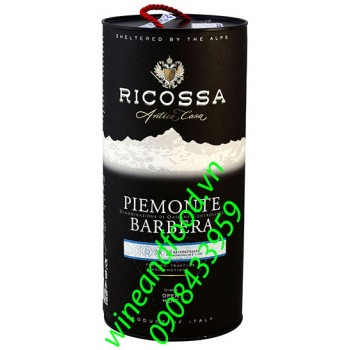 Rượu vang Ricossa Piemonte Barbera 3l