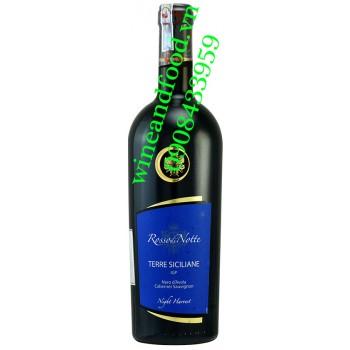 Rượu vang Rossodi Notte Terre Siciliane Cabernet Sauvignon 750ml