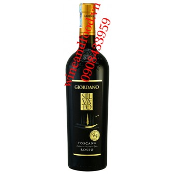 Rượu vang Selvato Toscana IGT Rosso Giordano 750ml