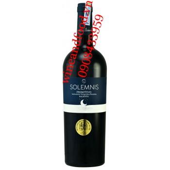 Rượu vang Solemnis Primitivo Salento 750ml