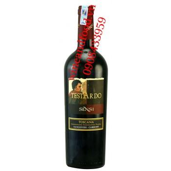 Rượu vang Testardo Sensi Toscana Sangiovese Cabernet