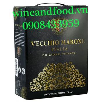 Rượu vang Vecchio Marone bịch 3l