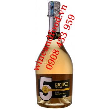 Rượu vang nổ Giacobazzi Rose Spumante Brut number 5