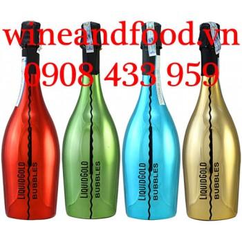 Rượu vang nổ Prosecco Liquid Gold Bubbles Extra Dry 75cl