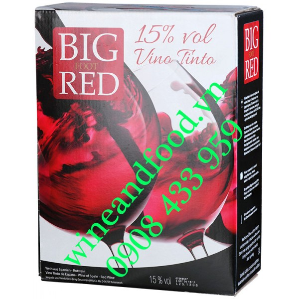 Rượu vang Big Foot Red bịch 3 lít