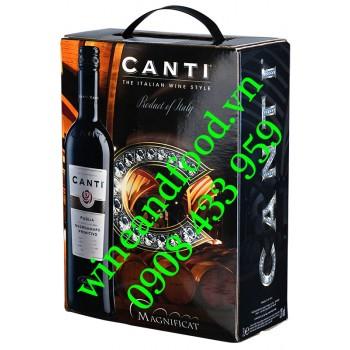Rượu vang Canti Negroamaro Primitivo Puglia bịch 3 Lít