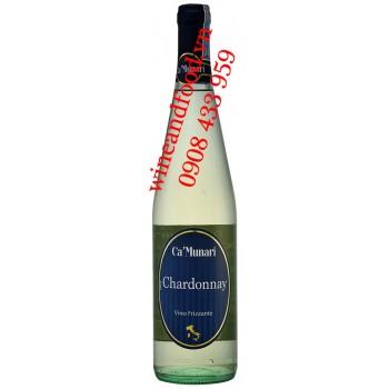 Rượu vang trắng Ca'Munari Chardonnay Vino Frizzante 750ml