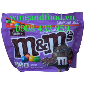 Kẹo socola M&M Fudge Brownie Sharing Size 256g6