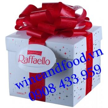 Socola dừa Confetteria Raffaello Ferrero Geschenkbox nơ đỏ 300g